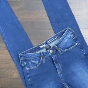 Mossimo high-rise skinny power stretch jeans